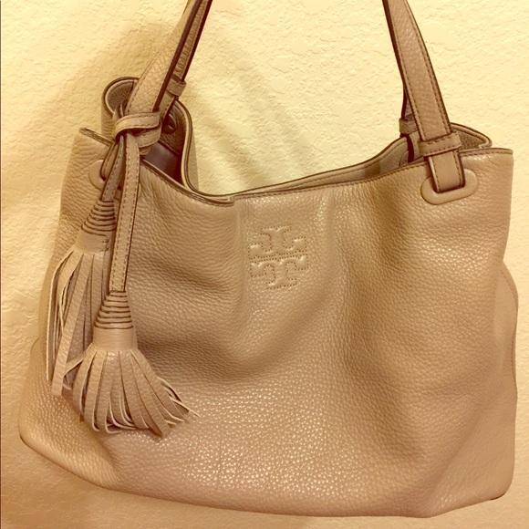 a2b7547d77c Tory Burch Thea Center-Zip Tote Bag with Tassels. M_5a7544238df47046b2b3f6cc